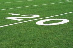 20 yard lijn stock afbeelding