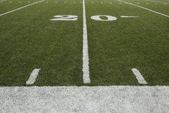 20-yard-line. Of a football field stock images
