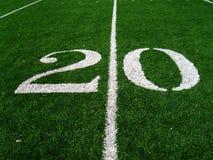 20 Yard Line. On Football Field Stock Photography