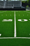 20 Yard Line on American Football Field Stock Photos