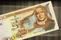 200个玻利维亚旧货币单位 图库摄影