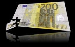 200家银行欧元附注 库存照片