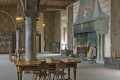 200座城堡chillon日内瓦湖在瑞士附近可以montreux 免版税库存照片