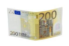 200张钞票欧元 库存图片