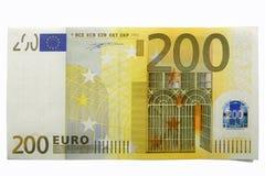 200 ευρώ εκατό δύο Στοκ Εικόνες