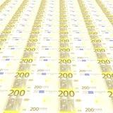 200 евро предпосылки Стоковое Изображение RF