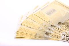 200 billetes de banco euro Fotografía de archivo