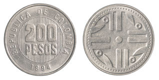 200 Colombian pesos coin Stock Photography