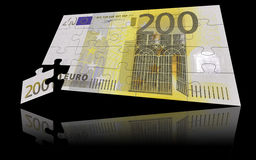 200 Euro bank note Stock Photos