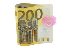 200 euro bankbiljetten Stock Foto's