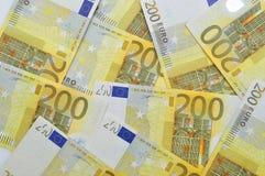 200 euro geldachtergrond. Royalty-vrije Stock Afbeelding