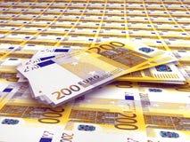 200 euro Nota's Royalty-vrije Stock Foto's