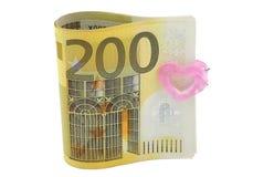 200 euro- notas de banco Fotos de Stock