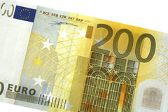 200 euro note detail Royalty Free Stock Photography