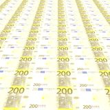 200 euros Background. 3D texture Royalty Free Stock Image