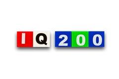 200 iq Fotografering för Bildbyråer