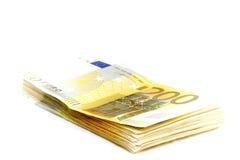 200 notas euro Imágenes de archivo libres de regalías