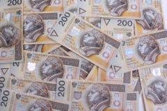 200 polerade zloty Arkivfoton