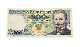 200 złoty polskich banknotów Obraz Stock