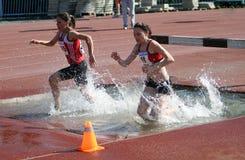 2000 carreras de obstáculos del contador Foto de archivo