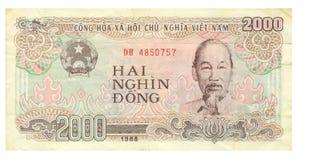 2000 Dongrechnung Vietnam, 1988 Lizenzfreies Stockbild