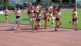 2000 Meter Steeplechase Stock Photos