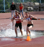 2000 Meter Steeplechase Royalty Free Stock Photos