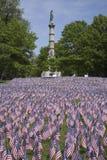 20000 bandiere americane Fotografie Stock