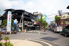 2002 Bali Bombing Site, Bali, Indonesia. Image of the 2002 Bali Bombing site at Kuta, Bali, Indonesia, now rebuilt and still attracting many tourists Royalty Free Stock Photo