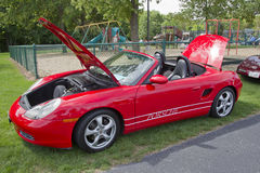 2002 Red Porsche Boxter Stock Photo