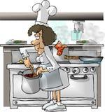 主厨女性 库存例证