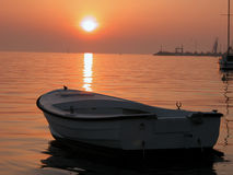 2003停住的小船克罗地亚可以 库存图片