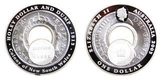 2003有穴的美元和转储 库存照片