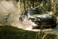 2003 hyundai accent wrc rally car Royalty Free Stock Photography