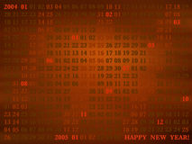 2004 años. calendario artístico Fotografía de archivo