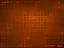 2004 Jahr. künstlerischer Kalender Stockfotografie