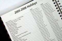 2005 2006 διακοπές Στοκ Εικόνα