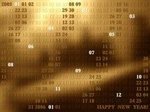 2005 artistical år för kalender ii vektor illustrationer