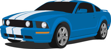 2005 Ford Mustang GT. A Vector illustration of a 2005 Ford Mustang GT Royalty Free Stock Images