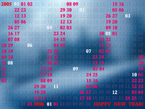 2005 jaar artistical kalender royalty-vrije illustratie