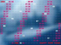 2005 Jahre künstlerischer Kalender lizenzfreie abbildung