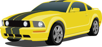 2005 Mustang Sports Car. A Vector illustration of a 2005 Mustang Sports Car Royalty Free Stock Image