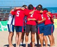 2005 spanjor för strandmästerskapfotboll Royaltyfria Foton