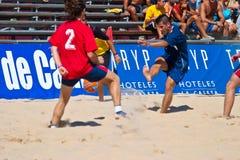 2005 spanjor för strandmästerskapfotboll Fotografering för Bildbyråer
