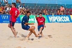 2005 spanjor för strandmästerskapfotboll Royaltyfri Foto