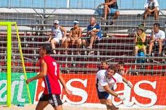 2005 spanjor för strandmästerskapfotboll Arkivfoto