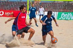 2005 spanjor för strandmästerskapfotboll Royaltyfri Bild