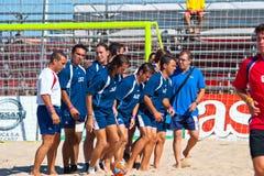 2005 spanjor för strandmästerskapfotboll Arkivbilder