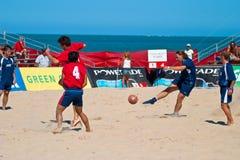2005 spanjor för strandmästerskapfotboll Royaltyfria Bilder