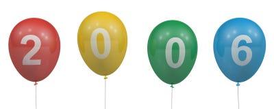 2006个气球 免版税库存照片